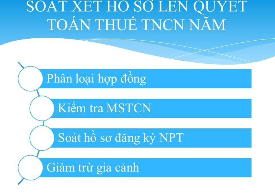 Các hồ sơ cần soát xét khi làm quyết toán thuế TNCN cuối năm