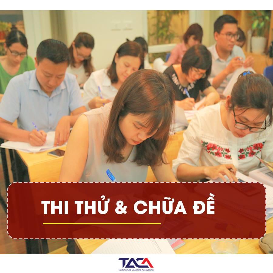 Thi thử chữa đề đại lý thuế tại học viện Taca