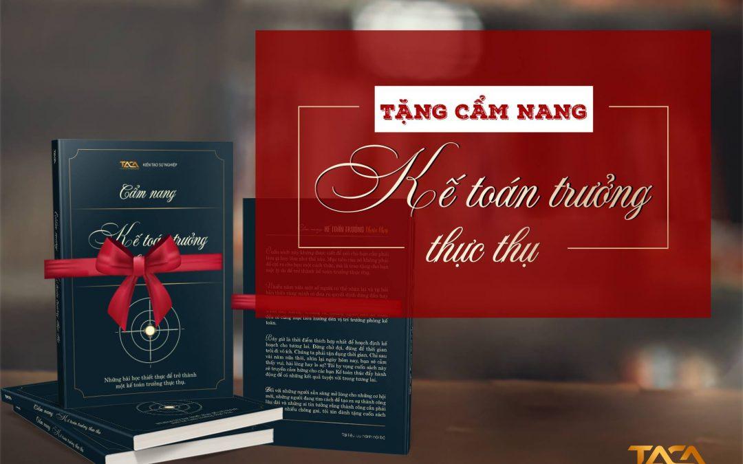 """Tặng Sách """"Cẩm Nang Kế Toán Trưởng Thực Thụ"""""""