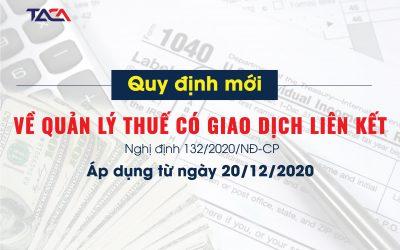 [Tải về] Nghị định 132/2020/NĐ-CP quy định mới về quản lý thuế có giao dịch liên kết
